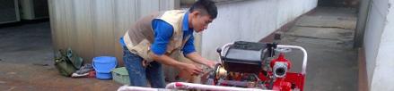 Sửa máy bơm Tohatsu chữa cháy cho nhà máy thumbnail
